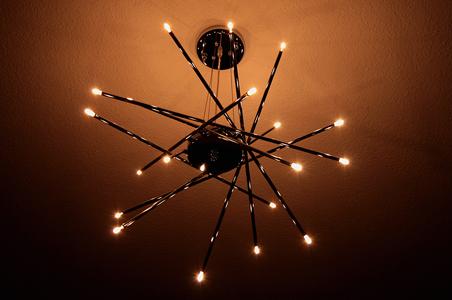Luminaire avec ampoule led gu4