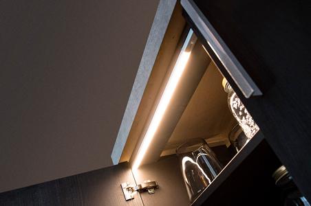 éclairage led dans un placard