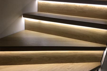 éclairage marche d'escalier