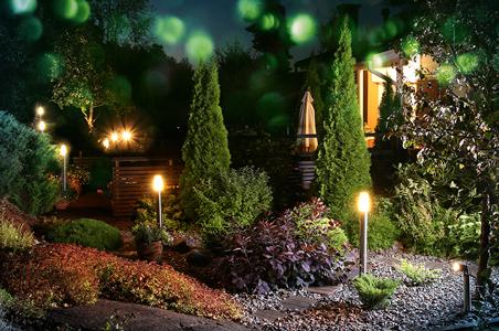 borne d'éclairage pour le jardin