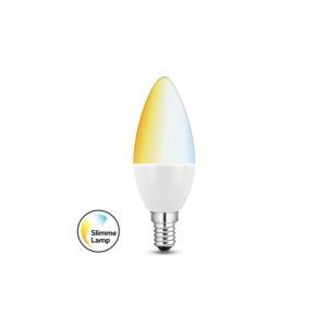 Ampoule LED connectée E14 flamme 5,8W tons blancs