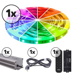 Ruban LED 5m Ensemble complet 12V RGB IP20 150 SMD 3528 LEDS