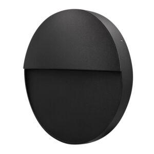 Applique murale LED Belvik noir ronde 3W 3000K IP54
