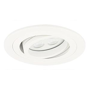 Spot LED encastrable Montella rond 5W 2700K blanc IP65 dimmable orientable