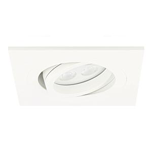 Spot LED encastrable Lecco carré 5W 2700K blanc IP65 dimmable orientable
