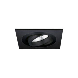 Spot LED encastrable Lecco carré 5W 2700K noir IP65 dimmable orientable