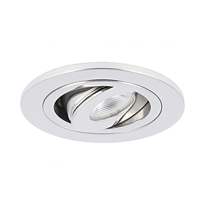 Spot LED encastrable Monza extra plat rond 3W 2700K inox IP65 dimmable orientable