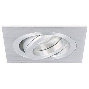 Spot LED encastrable Cantello carré 7W 2700K aluminium IP65 dimmable orientable