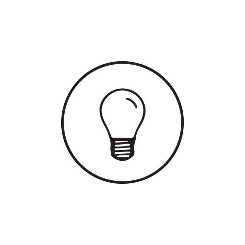 Spot piquet Elisa noir GX533W 3000K verre transparent