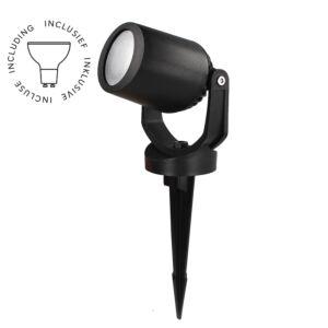 Spot piquet Minitommy 118 noir GU10 3,5W 3000K/4000K/6500K verre opaque