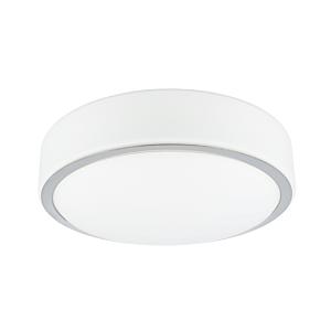 Plafonnier LED Zamora rond 25,5 cm IP44 verre