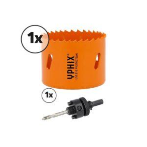 Scie-cloche HSS bimétal 70mm avec adaptateur 3/8''