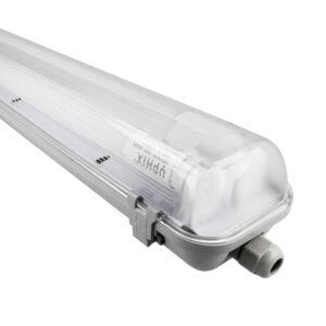 Réglette avec 2 tubes LED 120cm 18W 3000K Aqua Pro IP65