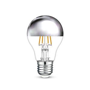 Ampoule LED tête miroir E27 Capella A60 4,5W 2700K dimmable argent