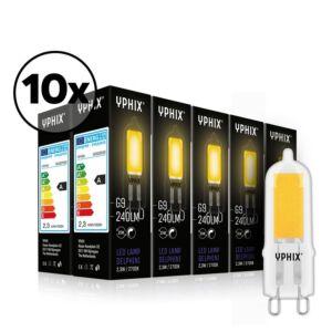 Ampoule LED G9 Delphini Pack de 10 COB 2,3W 2700K dimmable