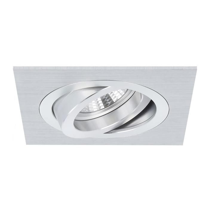 Spot encastrable Torino carré aluminium orientable avec ressorts de serrage