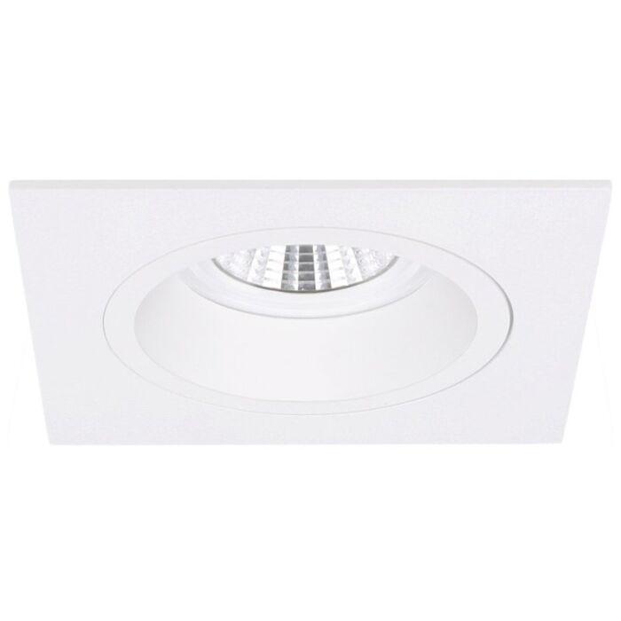 Spot encastrable Milano carré blanc profond avec ressorts de serrage