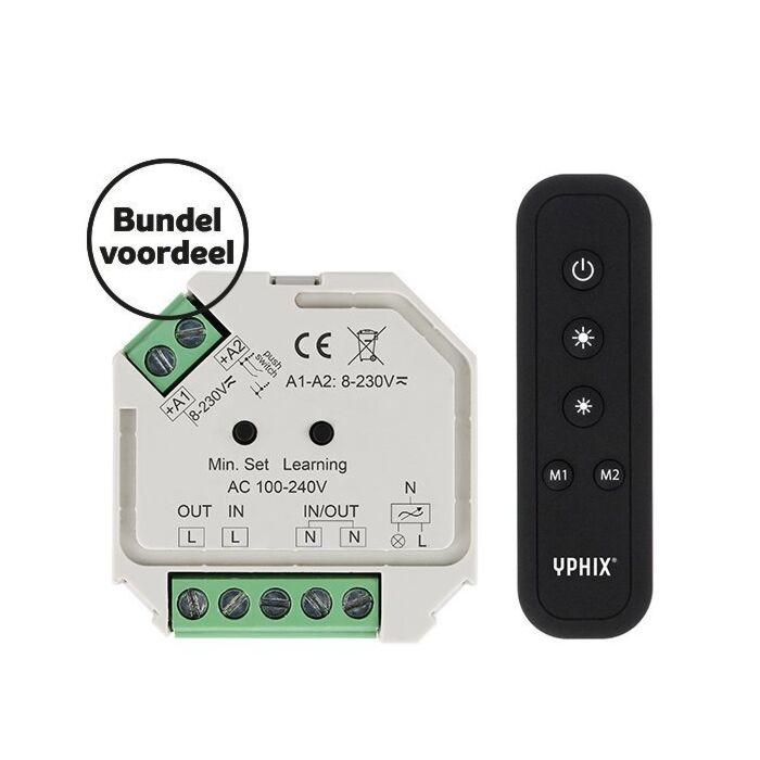 Variateur LED sans fil 230V Ensemble complet Télécommande RF 1 zone incluse
