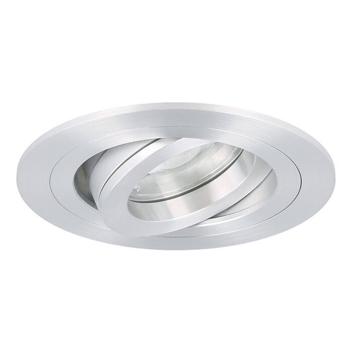 Spot LED encastrable Argenta rond 7W 2700K aluminium IP65 dimmable orientable