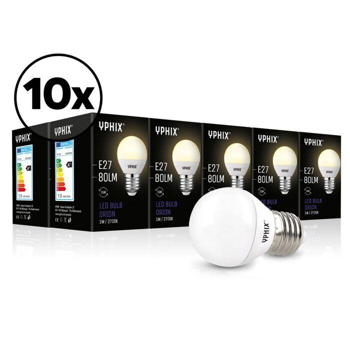 Ampoule LED E27 Orion Pack de 10 G45 1W 2700K