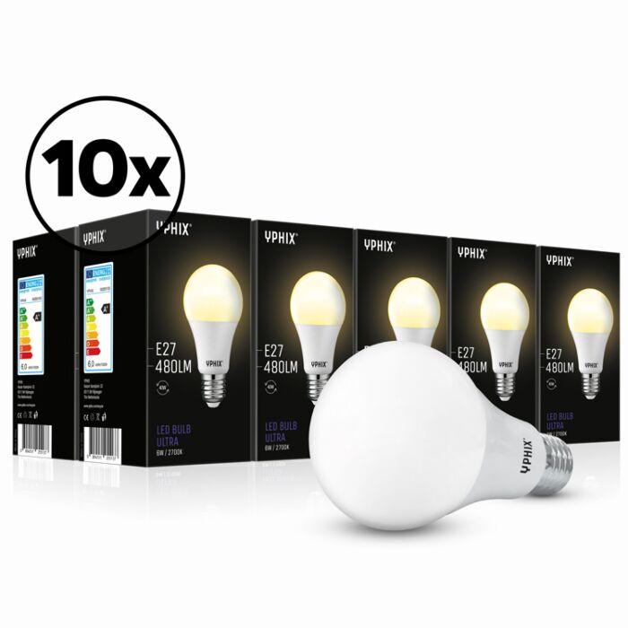 Ampoule LED E27 Ultra Pack de 10 A60 6W 2700K