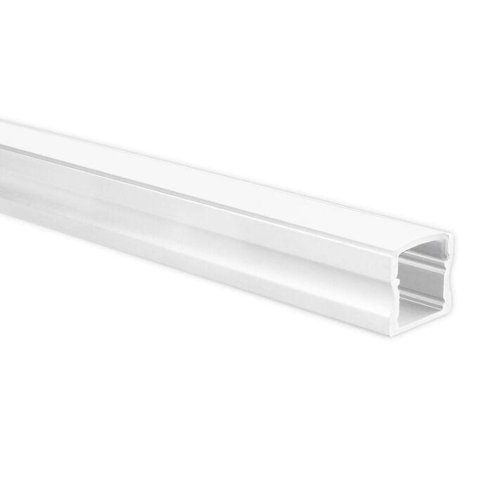 Profilé ruban LED Potenza blanc haut 1m avec couvercle opaque