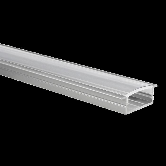 Profilé ruban LED Marconia aluminium large 5m (2 x 2,5m) avec couvercle transparent