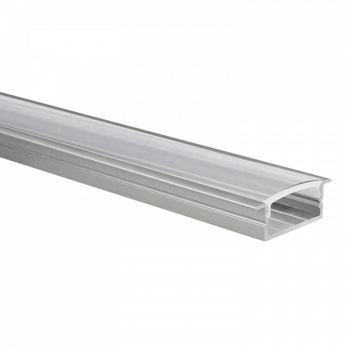 Profilé ruban LED Marconia aluminium large 1m avec couvercle transparent