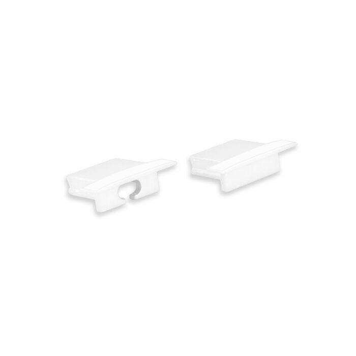 Embouts blanc pour Profilé ruban LED Matera plat