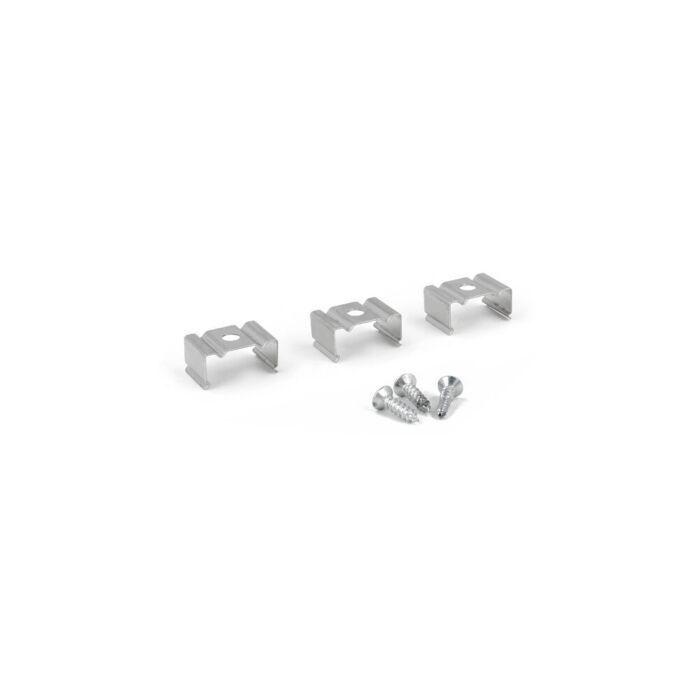 Clips de montage aluminium pour Profilé ruban LED Potenza haut
