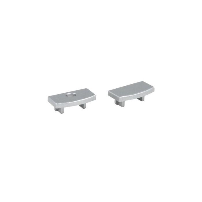 Embouts gris pour Profilé ruban LED Potenza plat