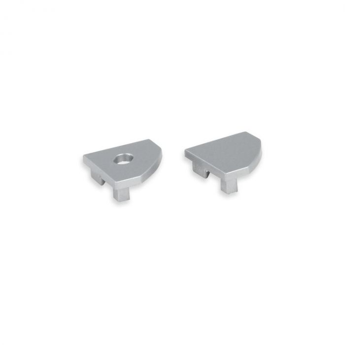 Embouts gris pour Profilé ruban LED Tarenta