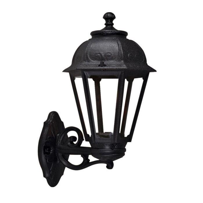 Lanterne extérieure Saba noir verre transparent E27 IP55