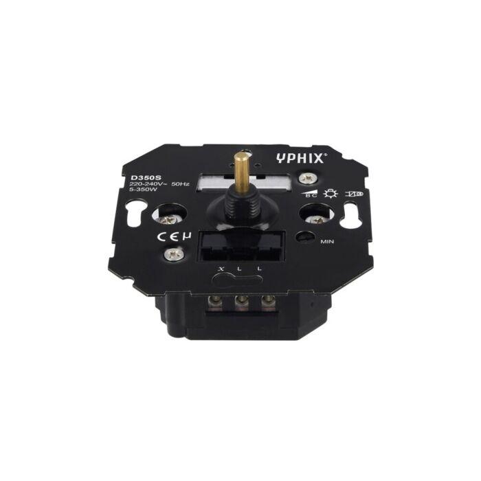 variateur LED 5-350W encastrable 230V coupure de phase descendante
