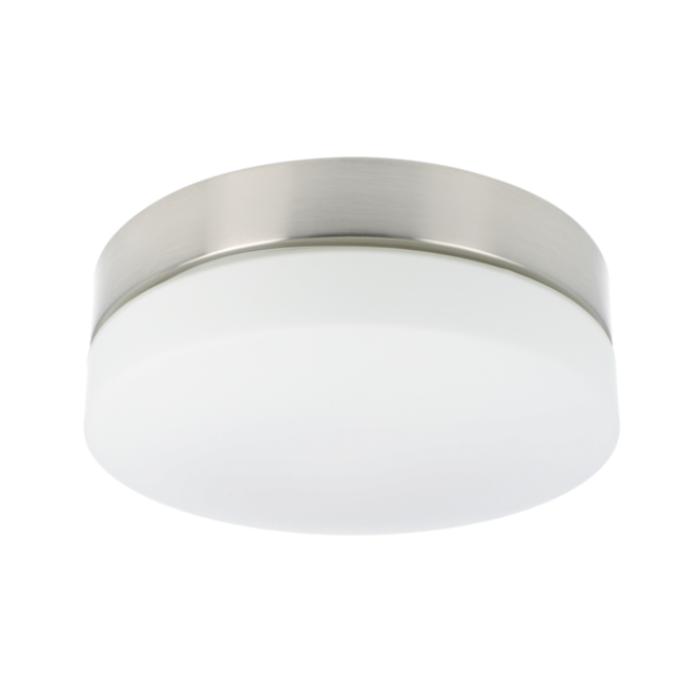 Plafonnier LED Palma rond 28,5 cm IP44 verre
