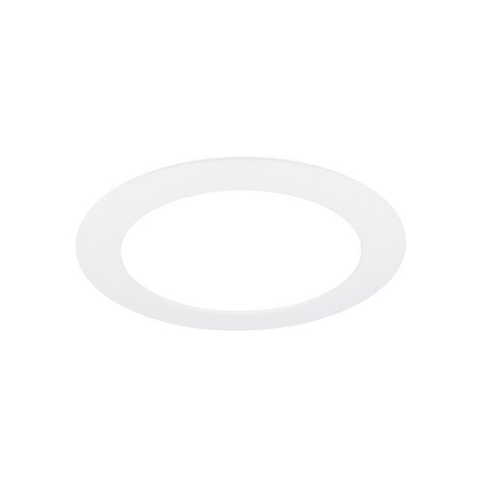 Plafonnier LED 18cm blanc encastrable 11W 4000K IP44 dimmable
