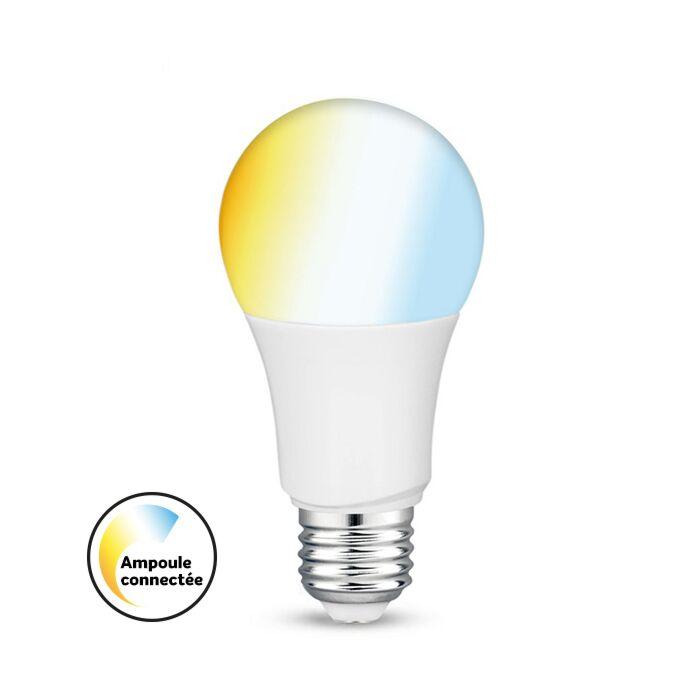 Ampoule LED Connectée E27 tint A60 9W 2700K-6500K dimmable
